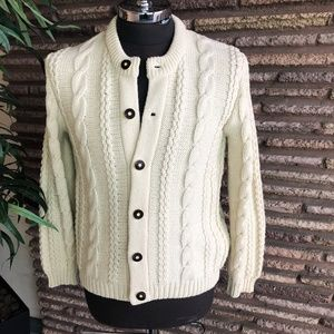 Other - Meister Vintage Wool Cableknit Cardigan Sweater
